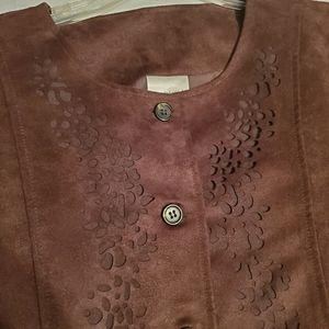 Decorated Originals Brown Suede Like XL Jacket